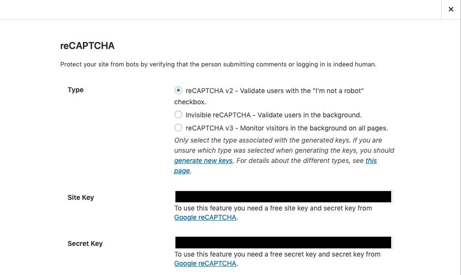 iThemes Security Google No CAPTCHA reCAPTCHA – iThemes Help